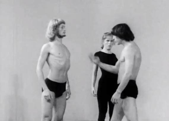 Videostill aus dem Theaterlabor, gegründet 1959 von Jerzy Grotowski