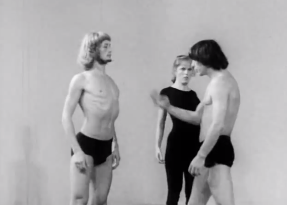 Video still from  the Theatre Laboratory, founded by Jerzy Grotowski in 1959