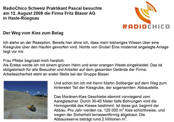 Beginn der Reportage von Pascal Segessenmann
