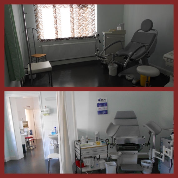 gynäkologische Untersuchungs- und Behandlungseinrichtung