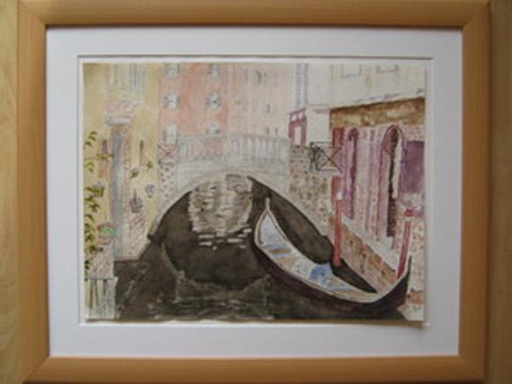 Eine kleine Brücke in Venedig - Reproduktion nach T.Duval