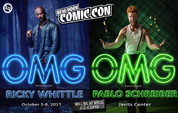 10/5-10/8/17 - New York City, NY - New York Comic Con - With Ricky Whittle, Pablo Schreiber.