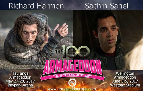 5/26-6/4/17 - New Zealand - Armageddon Con - With Richard Harmon, Sachin Sahel.