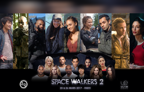 3/25-3/26/17 - Paris, France - Space Walkers 2 - With Ricky Whittle, Sachin Sahel, Jarod Joseph, Chelsey Reist, Lindsey Morgan,  Christopher Larkin, Jessica Harmon, Luisa D'Olivera, Erica Cerra.