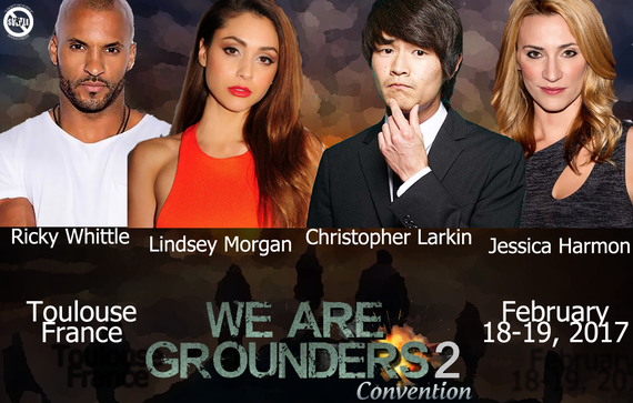 2/18-2/19/17 - Toulouse, France - We Are Grounders 2 - With Ricky Whittle, Lindsey Morgan, Christopher Larkin, Jessica Harmon.