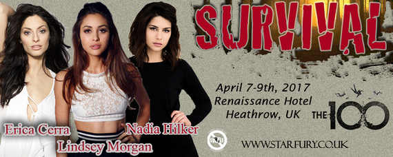 4/7-4/9/17 - Heathrow, England - Starfury 100 - With Lindsey Morgan, Erica Cerra, Nadia Hilker.