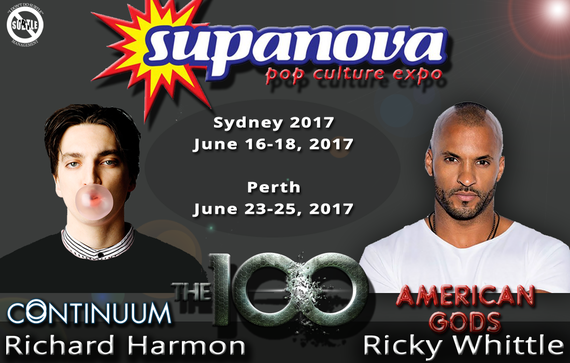 6/16-6/25/17 - Sydney & Perth, Australia - Supanova - With Richard Harmon, Ricky Whittle.