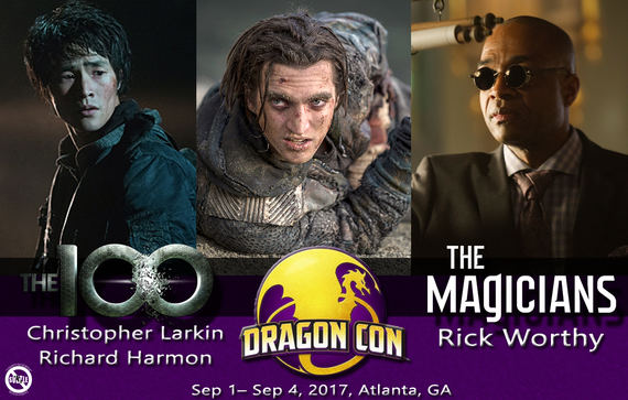 9/1-9/4/17 - Atlanta, GA. - Dragon Con - With Richard Harmon, Chris Larkin, Rick Worthy.