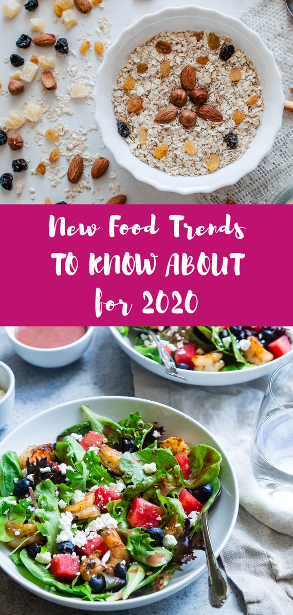 What are the new food trends for 2020? Get the latest food trends, including a superfoods list, in this nutrition trends round-up. #superfood #foodtrends #nutritiontrend #nutrition #plantbased #2020trends #whattoeat #vegetarian #vegan