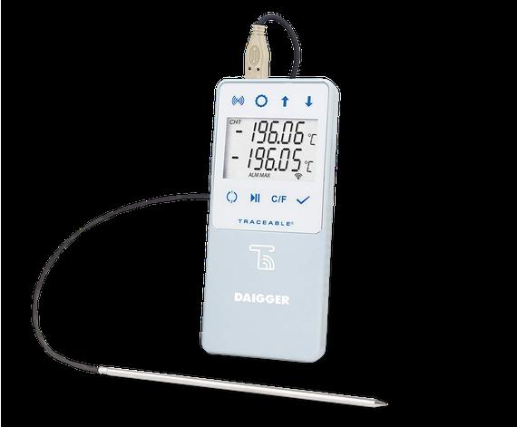 Termómetro digital con Datalogger e interface a WIFI TraceableLIVE y certificado trazable a NIST 6512