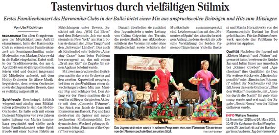 Heilbronner Stimme, 17. Oktober 2018