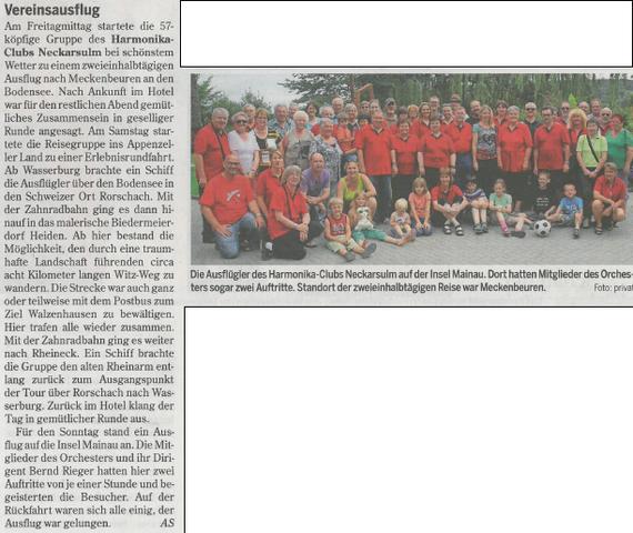 Heilbronner Stimme, 30. Juli 2014