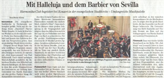 Heilbronner Stimme, 24. März 2015