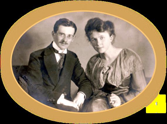 Die Eltern von Bettina Heinen-Ayech, Hanns und Erna Heinen, 1919