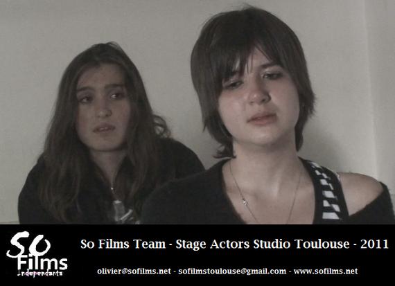 Bérénice et Charline, en plein exercice d'Actors Studio