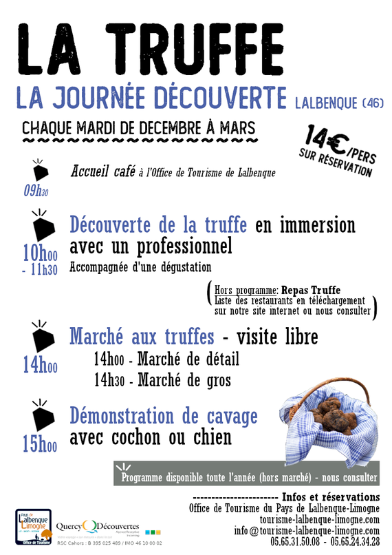 découverte lot truffe marché aux truffes en Quercy, dans la région occitanie