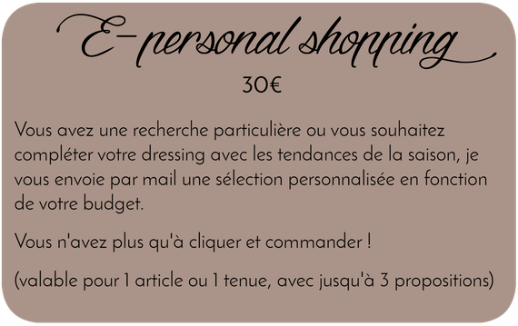 personal shopping à distance