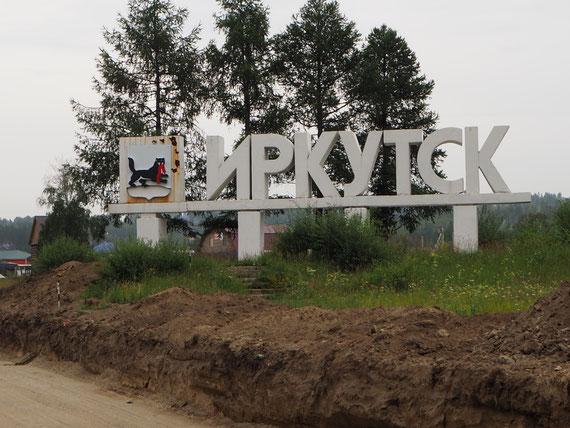 Geschafft: in Irkutsk angekommen