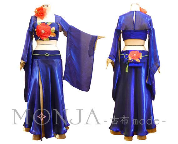 帯で製作した、着物風ベリーダンスの衣装