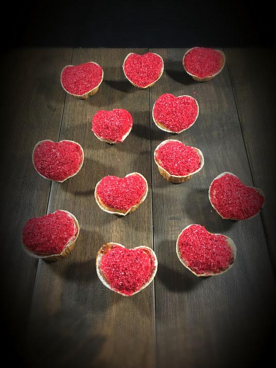 Muffins in Herzform zum Valentinstag Muttertag Hochzeit Verlobung oder einfach aus Liebe gemachte Herz Muffins vegan aus dem Thermomix