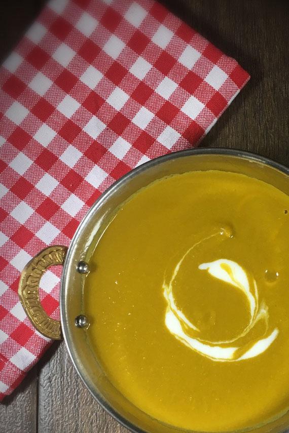 Erbsensuppe indische Art vegan aus dem Thermomix perfekt auch für 5:2 Diät