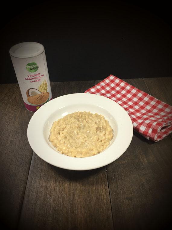 Milchreis mit Kokosblütenzucker vegan aus dem Thermomix