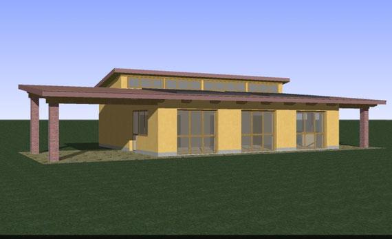 Uno degli edifici dell'insediamento: l'asilo/sala studio