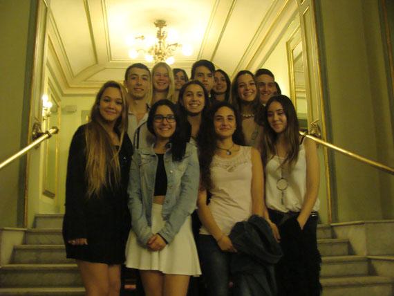 alumnes d'optativa de musica visiten el Liceu de Barcelona