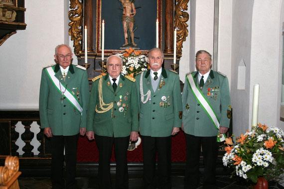 von links: Georg Wilde, Heinrich Maaßen, Franz Schauff, Peter Hallstein