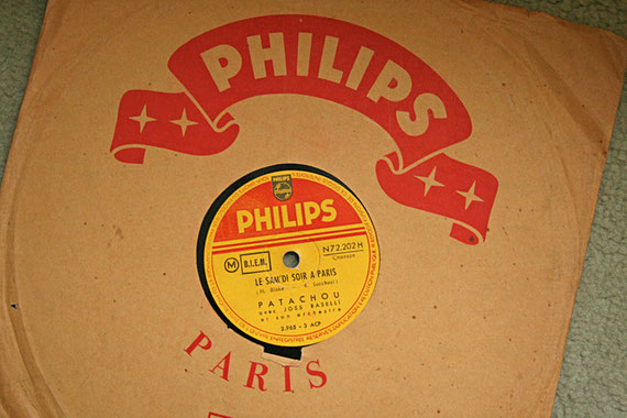 Disque 78 tours Philips de Patachou