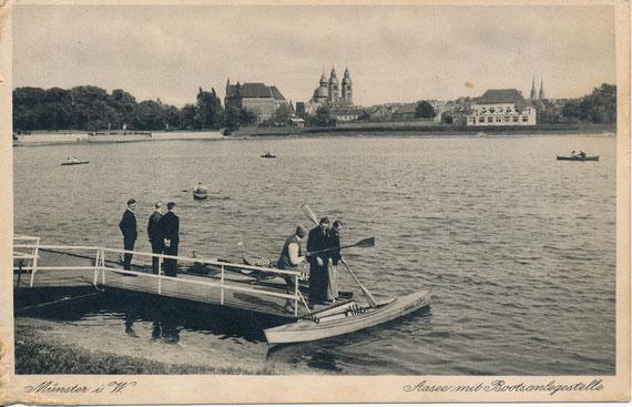 Vor Fertigstellung des 2. Bauabschnittes um 1933. Das Gauhaus ist noch nicht erbaut.
