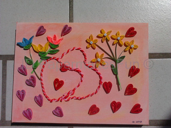 Paper - Quilling - Flowers and Hearts