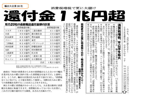 今日の駅頭ビラ(通算71号)