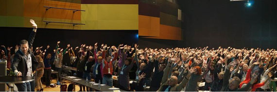 1300 Physiotherapeuten beim Faszientraining in Stuttgart/Messe