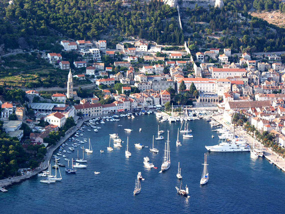 The harbour in Hvar