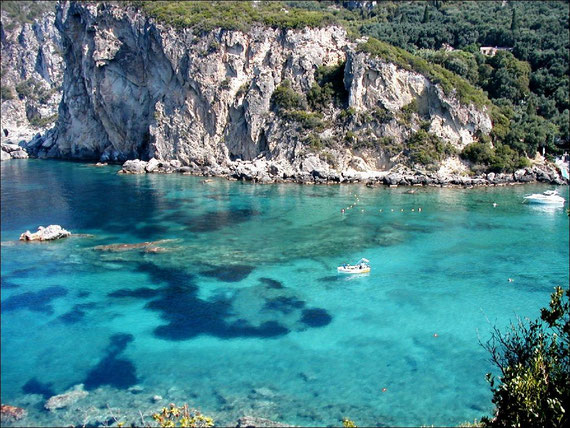 The incredible coast of Corfu