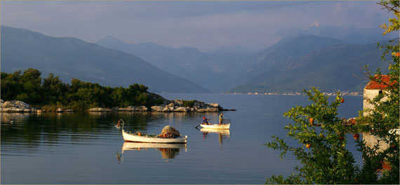 The quiet bay of Tivat in front of the Kalimanj Marina