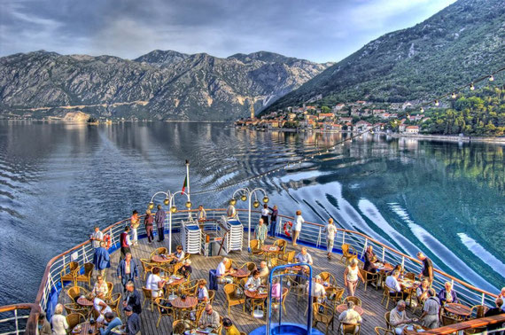 Twilight in Kotor Bay