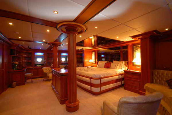 Galileo's main cabin of Aegean Yacht  launched in 2009 a 50 m/164 ft  luxury yacht built in Bodrum (Turkey)