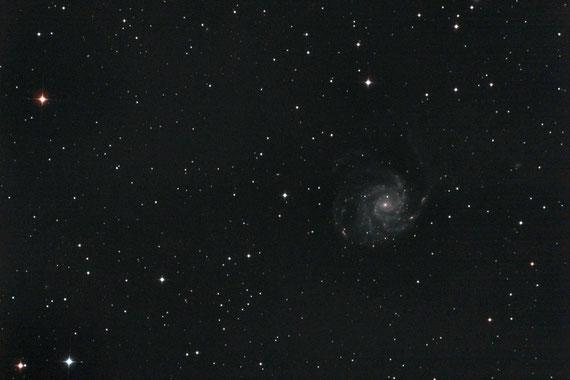 Messier 101 bei 750 mm Brennweite aufgenommen