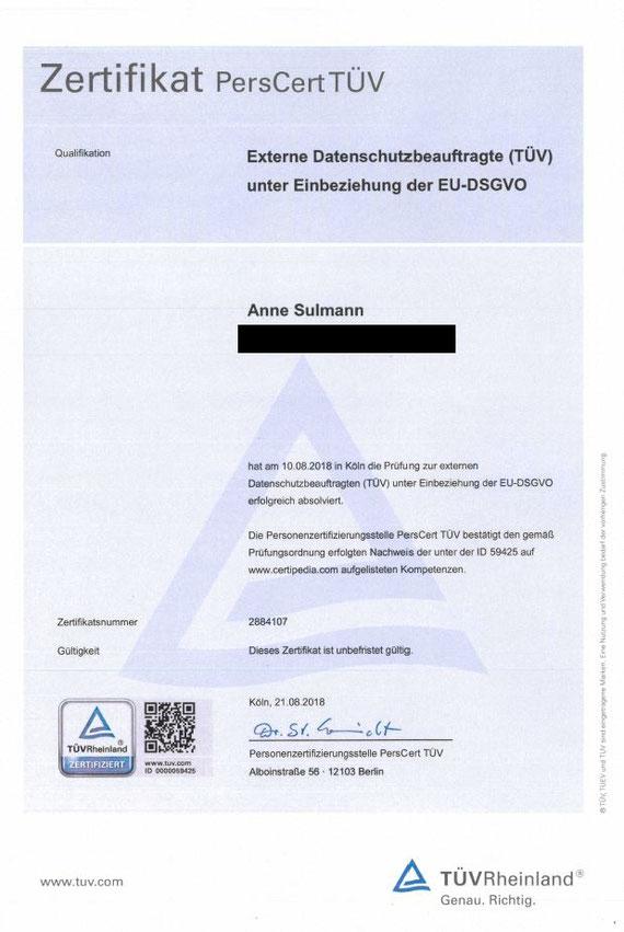 Externer Datenschutzbeauftragter DSGVO