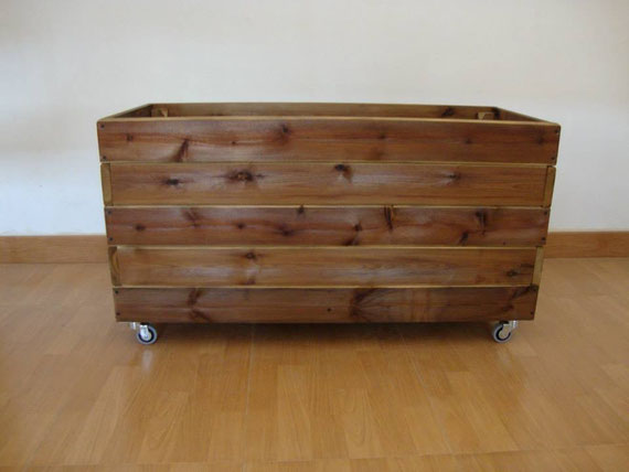 Jardineras de madera huertos urbanos mesas de cultivo jardineras de madera - Jardineras de madera caseras ...