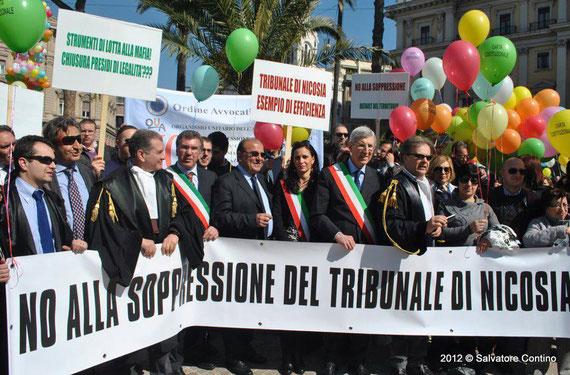 Manifestazione con i Sindaci del Circondario e l'On. Edoardo Leanza