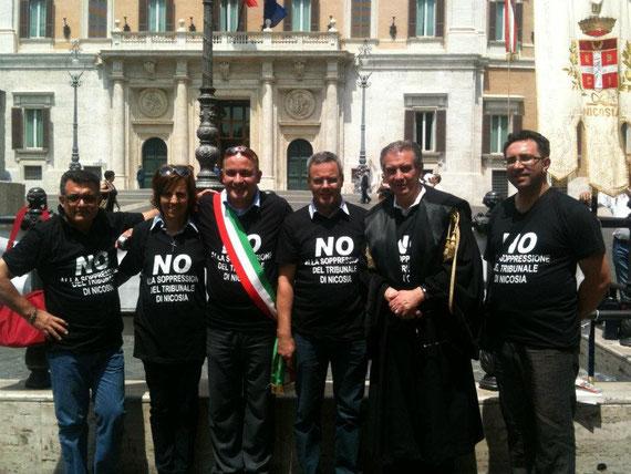 Sit-in in PIazza Montecitorio - 25/26 luglio 2012