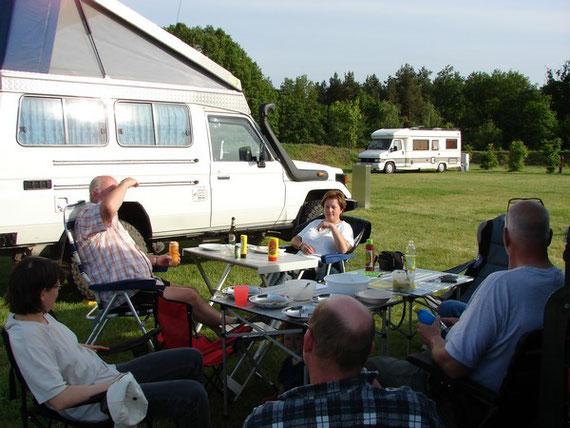 Der gemütliche Abend auf dem Campingplatz