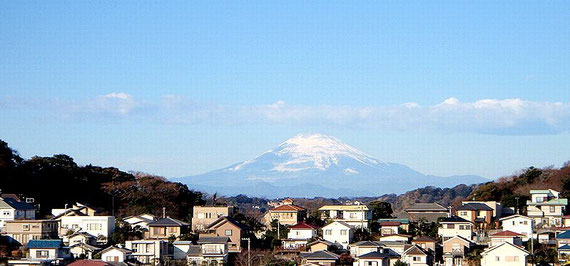 Nice View of Fuji San and Sea from Holy Mother`s House