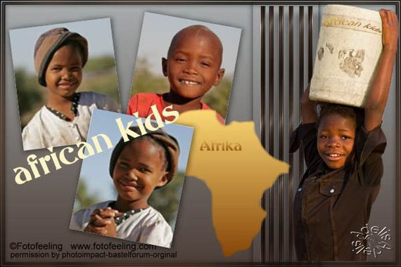 Collage 12 african kids