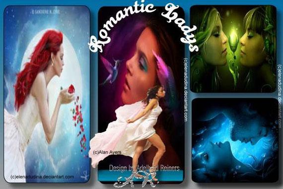 Romatic Ladys - Hintergrund Farbwechsel graublau + grau