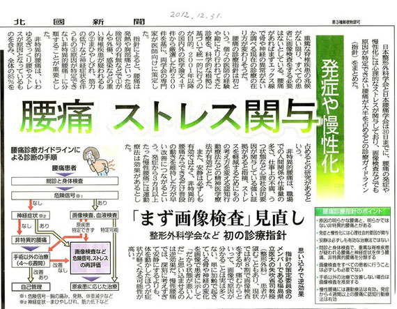 2012.12.31 腰痛 ストレス関与