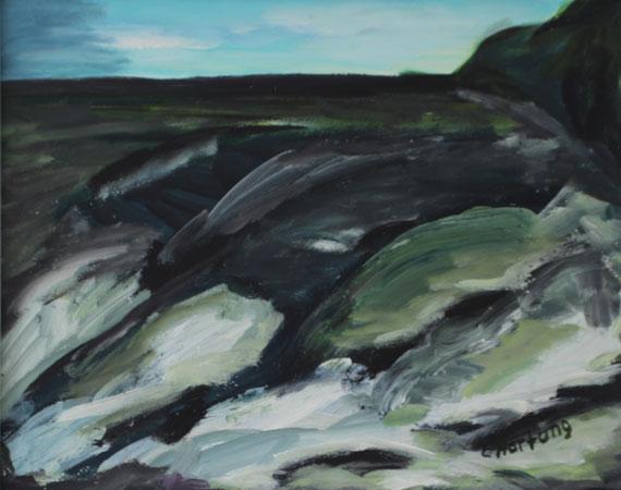 """""""Wasser"""", 2010, Acryl, 50 x 60 cm"""